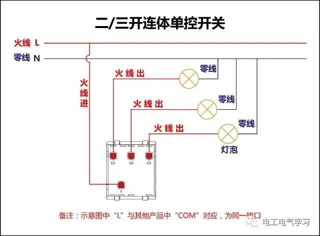【电工必备】开关照明电机断路器接线图大全非常值得收藏!_66