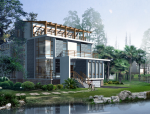 二层别墅山水怡人建筑设计(包含CAD)