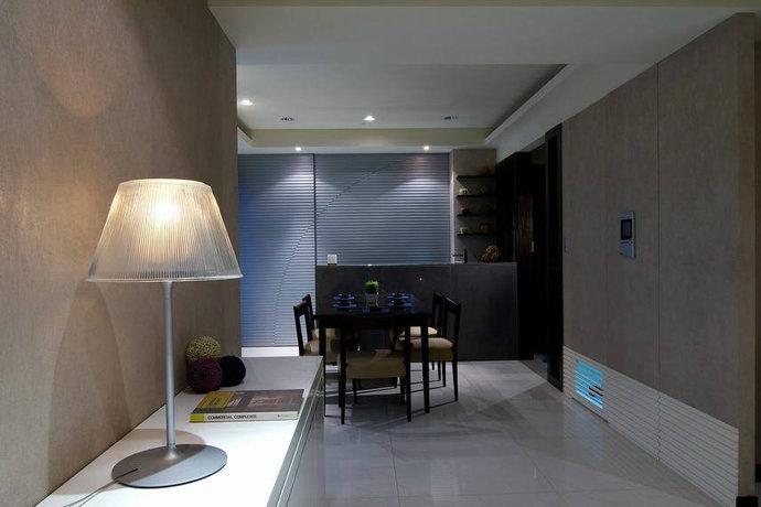 130平米二居室现代简约客厅背景墙设计效果图_7