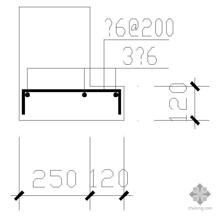 某窗套处框架梁配筋节点构造详图