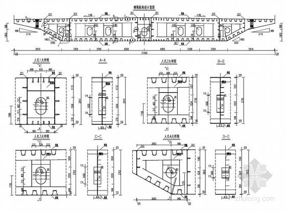 独塔单索面斜拉桥施工图(设计院)