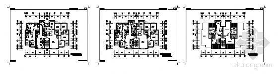四室两厅三卫K型户型平面图
