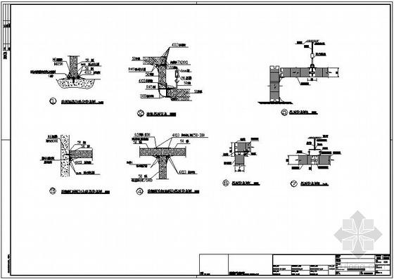 某彩钢板及吊顶节点构造详图