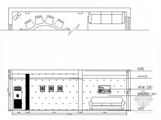 [江西]特色老字号高档饭店装修施工图(含效果)小包厢立面图