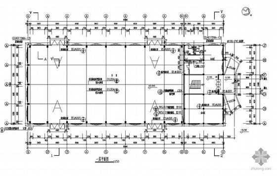 上海某24米跨排架厂房建筑结构图