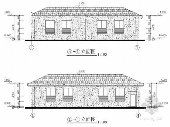 一层小区自管配电房结构施工图(含建筑图)