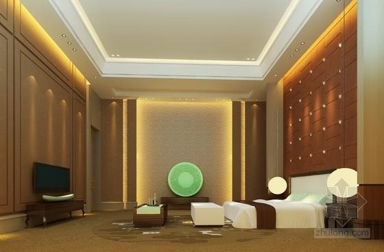 [广东]商业中心现代风格商务酒店2号楼室内设计方案卧室效果图