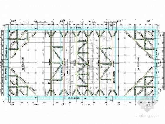 [福建]物流公司地下室深基坑水泥土搅拌桩结合钢管内支撑支护施工图