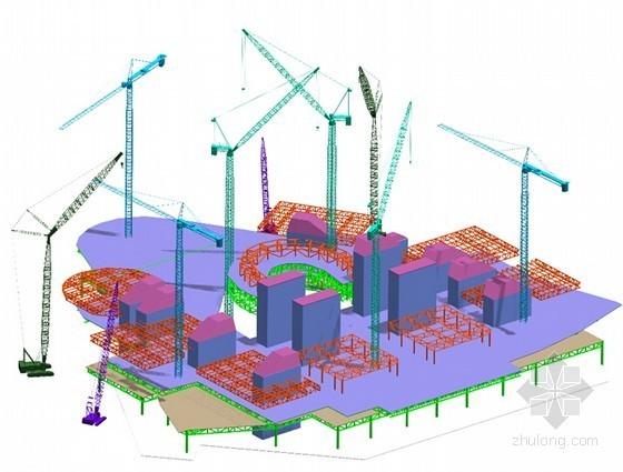 [大连]复杂钢结构空间体系国际会议中心施工组织设计(160余页 附图较多)