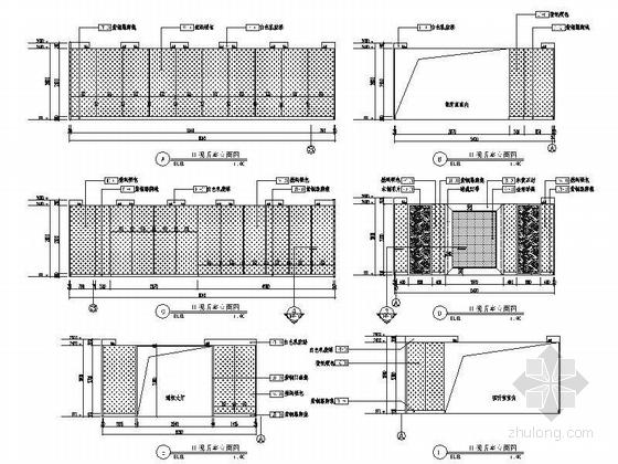 [北京]原创综合医药研究院典雅中式医院装修施工图(含效果)视听室立面图