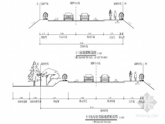 防火通道工程城市次干路全套施工图(37张)
