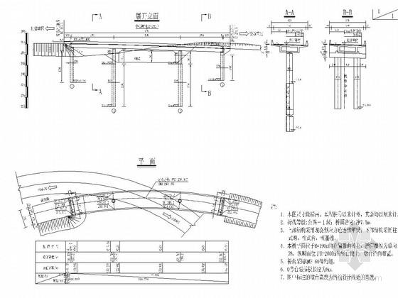 (20+31+20)米预应力连续箱梁桥施工图设计43张CAD