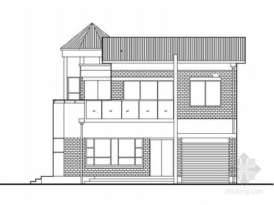 [仪征]某花园二层别墅建筑施工图