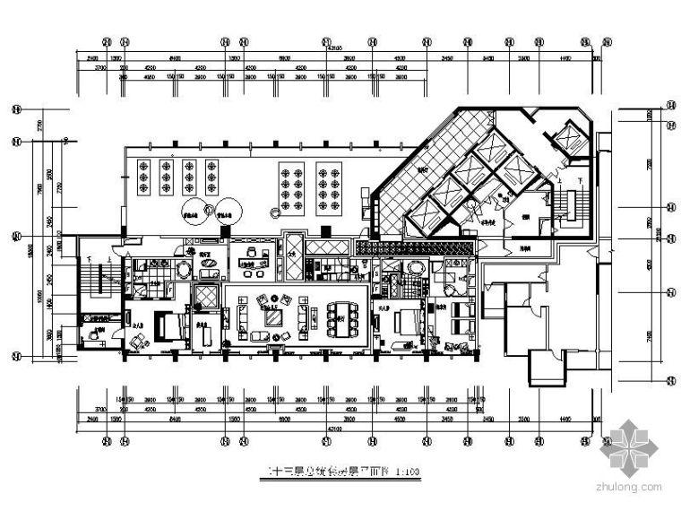 [深圳]五星级国际商务酒店总统套房施工图