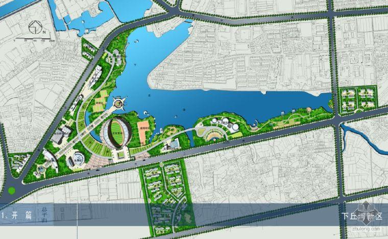 某风景旅游区概念性规划设计总平面图