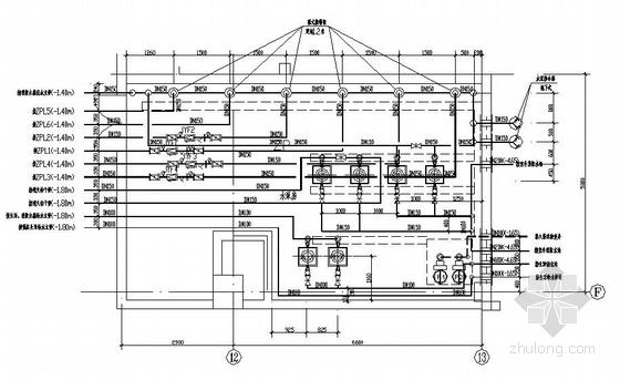 消防水泵房管线布置大样图