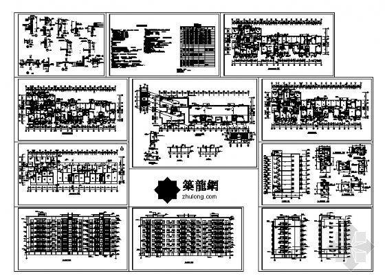 小区某八层住宅建筑施工图-4