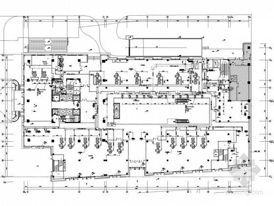 体育服务综合楼空调通风及防排烟系统设计施工图(含制冷机房设计 风冷热泵机组)