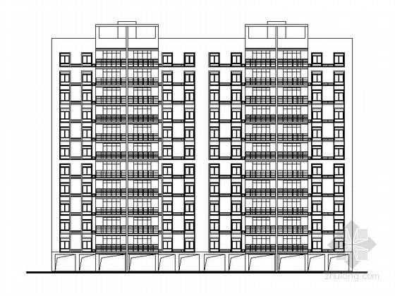某十二层底层架空板式住宅楼建筑方案图