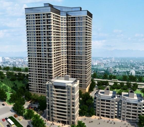 [武汉]某三十三层住宅楼建筑方案文本(含CAD)