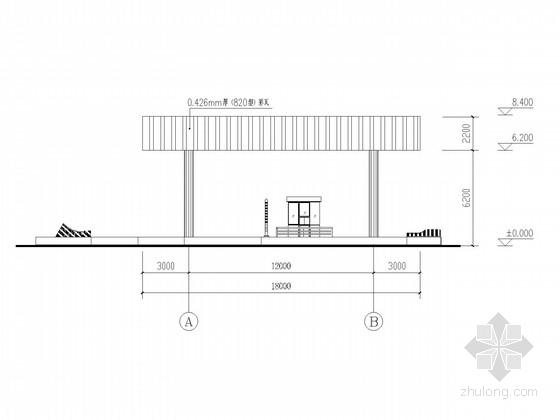 高速公路收费站矩形网架结构施工图