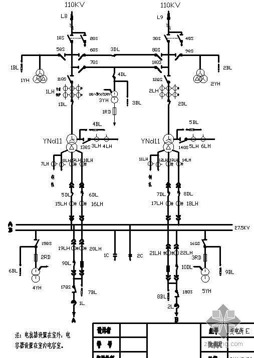 牵引变电所电气主接线课程设计