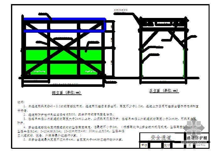 中建某公司施工现场安全标准图集(标准化加工棚)