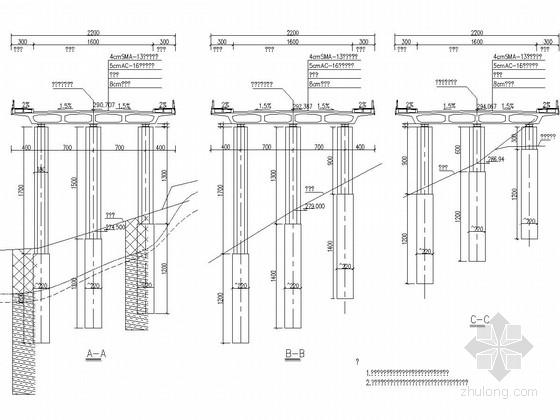 单幅四跨等截面预应力混凝土连续梁桥施工图(国际知名公司 斜腹式单箱)