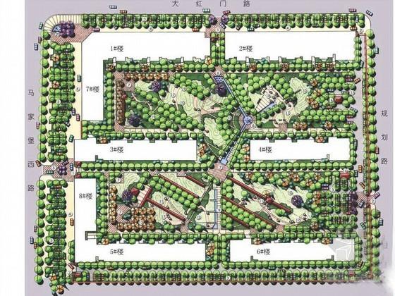 [北京]美式风格小区景观设计方案