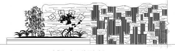 特色古典水幕墙和亲水平台施工图