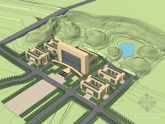 [贵州]某行政中心规划设计文本方案(含cad,su模型)救的字体v文本图片