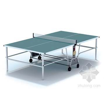 vray材质球素材资料下载-乒乓球桌003