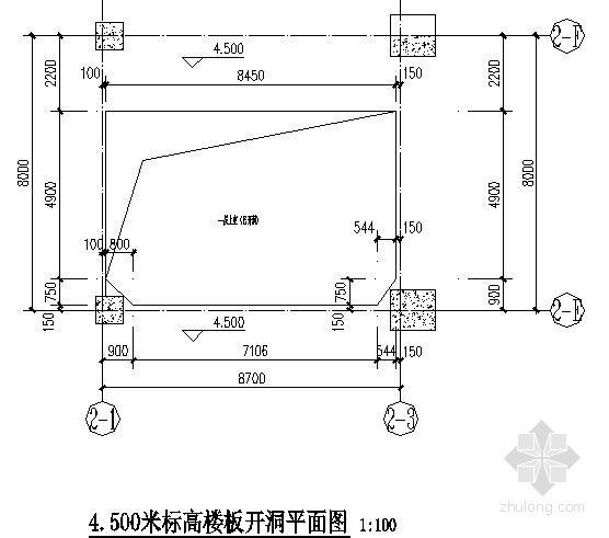 [甘肃]车间新增钢结构平台结构施工图