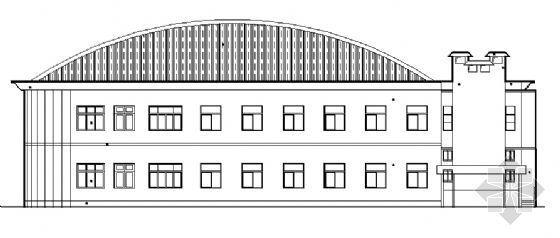 二层学校食堂建筑施工图