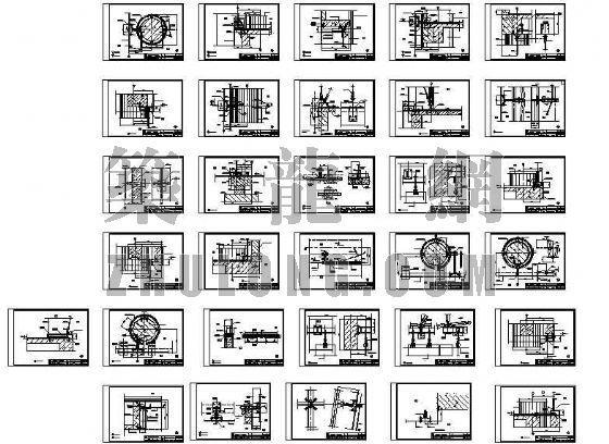 点式幕墙的节点图(全套)