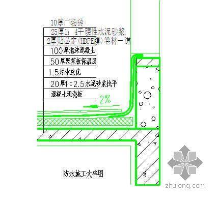 湖北某住院大楼屋面工程施工方案(上人保温屋面)