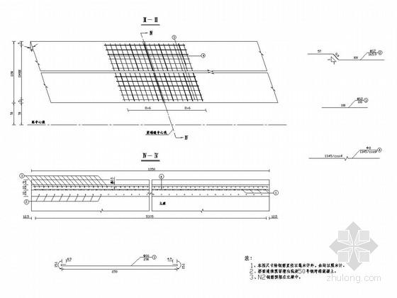桥梁通用设施桥面连续构造图