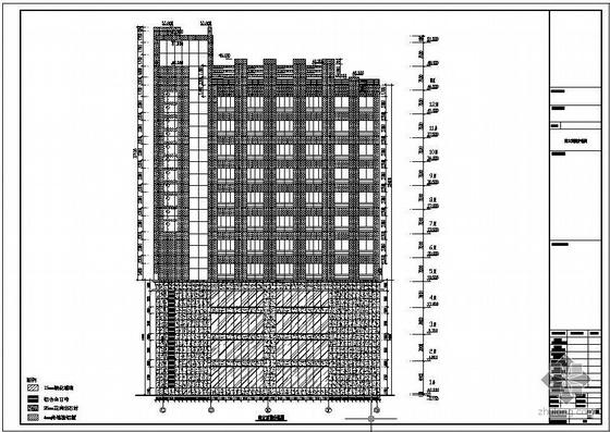 安徽某中心石材幕墙工程图纸