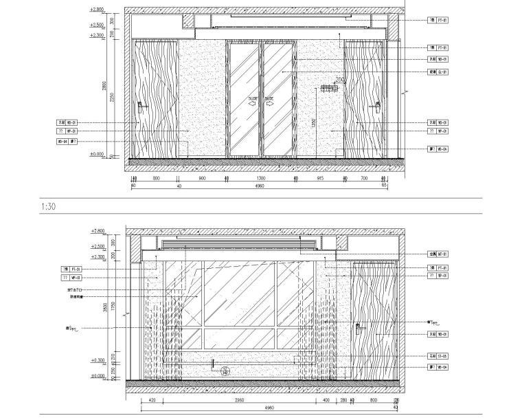 [北京]万科翡翠长安现代中式轻奢样板间设计方案+CAD全套施工图+物料书+效果图_10