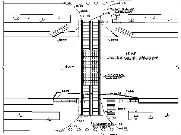 [长沙]人行桥水毁恢复重建工程图纸及清单控制价