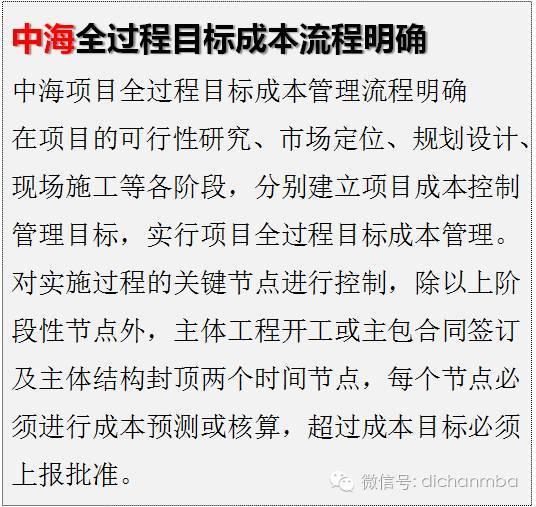 干货!中海•万科•绿城•龙湖四大房企成本管理模式大PK_22