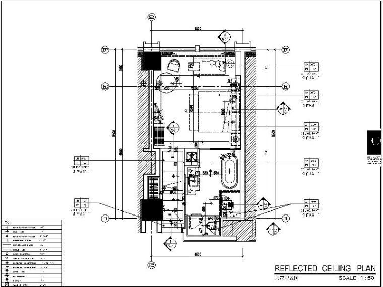 [长沙]某知名5星级酒店样板房设计施工图(含效果图+物料表)