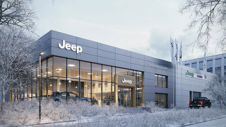 vray雪景资料下载-VRay for 3ds Max| Jeep 展馆雪景表现