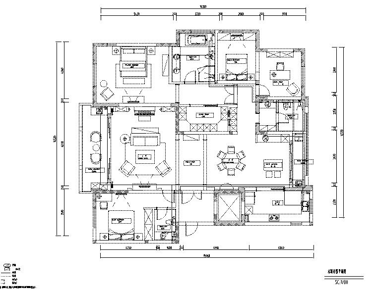 简约优雅美式风格样板间设计施工图(附效果图)_3