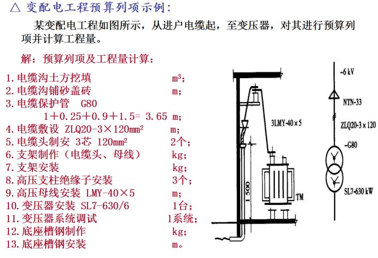 建筑电气工程量计算方法-变配电工程预算列项示例