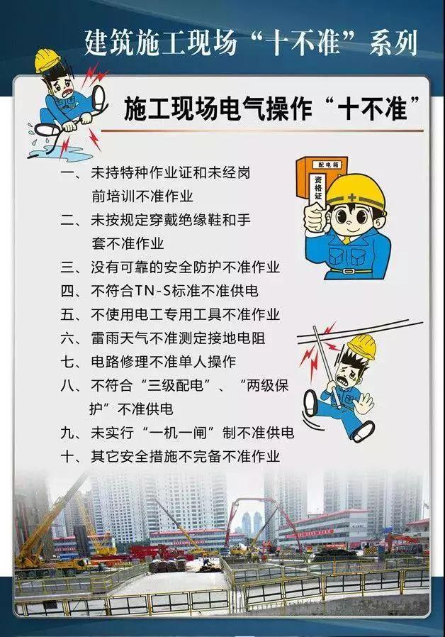 """建筑施工現場""""十不準""""系列掛圖!工地安全必備!_7"""