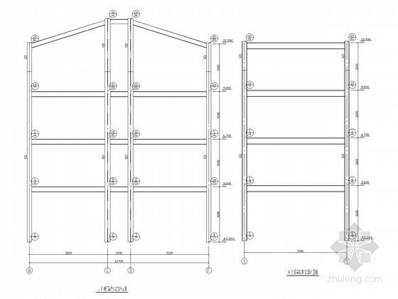 坡屋顶四层钢框架综合楼结构施工图