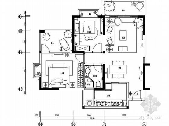 [海南]养生度假社区现代两居室样板房设计装修图