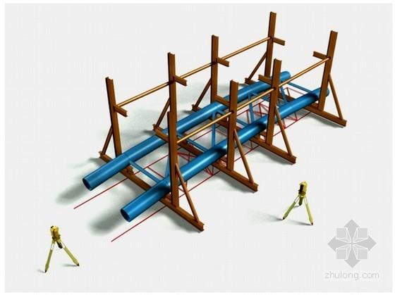 [内蒙古]体育馆钢结构拼装施工方案(三维效果图)