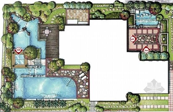 [广东]别墅景观设计24例(手绘图)